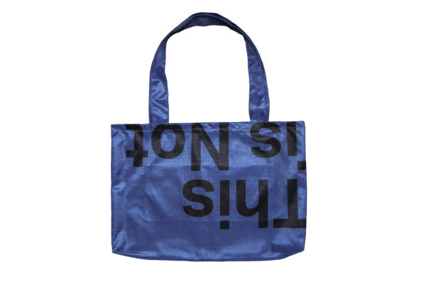 Limited edition blue tote bag